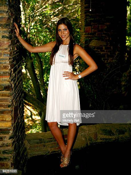 Miss Guatemala Alida Boer Reyes attends photocall for Miss World 2009 at Gallagher Convention Centre on December 10, 2009 in Johannesburg, South...