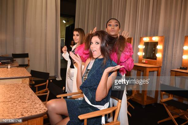 Miss Guatemala Mariana Garcia Miss Aruba Kimberly Julsing and Miss Curacao Akisha Albert at the rehearsals for the 2018 MISS UNIVERSE competition...