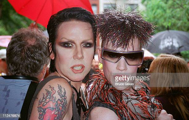 Miss Guy and Richie Rich during Wigstock 2004 at Thompson Square Park in New York City, New York, United States.