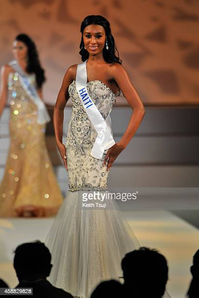 Miss Haiti Christie Desir competes during The 54th Miss International Beauty Pageant 2014 at Grand Prince Hotel New Takanawa on November 11 2014 in...