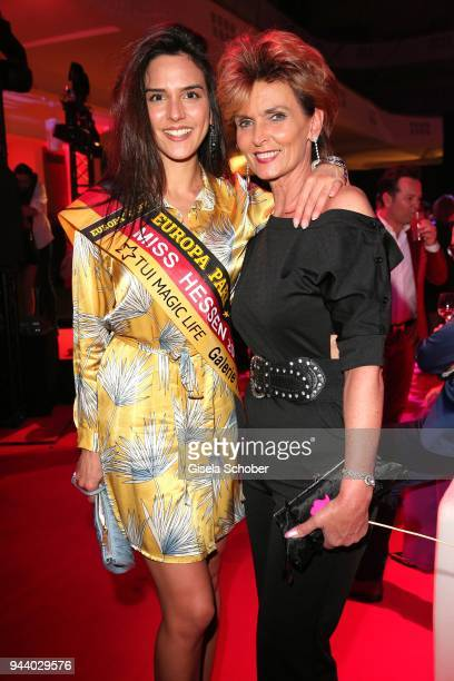 Miss Hessen Derya Sipahi and Liane Wirzberger during the 13th Live Entertainment Award 2018 at Festhalle Frankfurt on April 9 2018 in Frankfurt am...