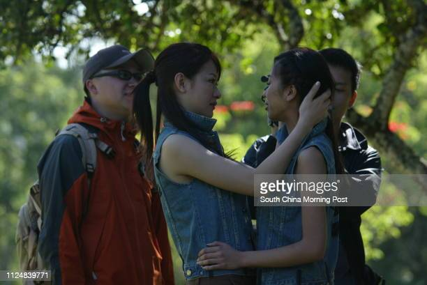 Miss Hong Kong contestant Jacqueline Wong Yeeman sheds tears in fears after mounting a horse at Mount Kenya Safari Club Kenya Africa on June 1 Fellow...