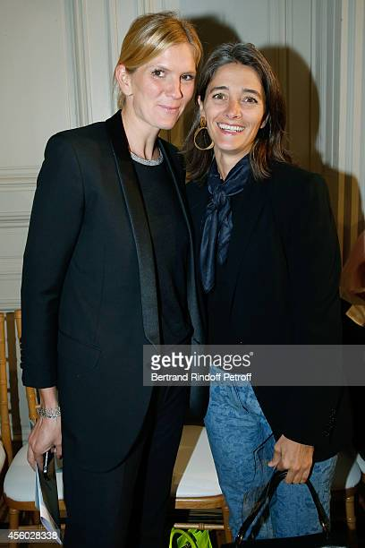 Miss Ian Gallienne and Miss Guillaume Gallienne attend the Alexis Mabille show as part of the Paris Fashion Week Womenswear Spring/Summer 2015 on...