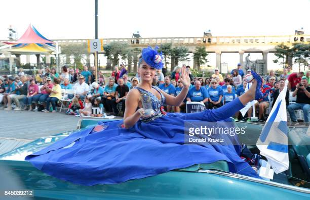 Miss Illinois 2017 Abby Foster participates during Miss America 2018 Show Me Your Shoes Parade on September 9 2017 in Atlantic City New Jersey