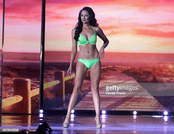 Miss Illinois, Crystal Davis attends the Thursday Night Preliminaries - 2016 Miss America Competition at Atlantic City Boardwalk Hall on September...