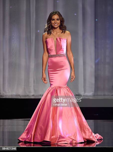 Miss Illinois Teen USA 2016 Olivia Pura competes in the evening gown competition during the 2016 Miss Teen USA Competition at The Venetian Las Vegas...