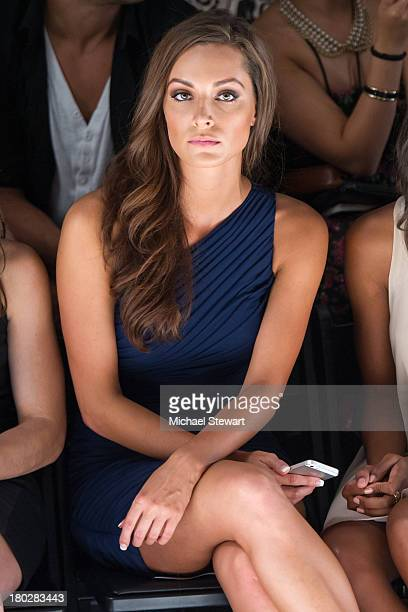 Miss Illinois USA 2013 Stacie Juris attends the Alon Livne show during Spring 2014 MercedesBenz Fashion Week at The Studio at Lincoln Center on...