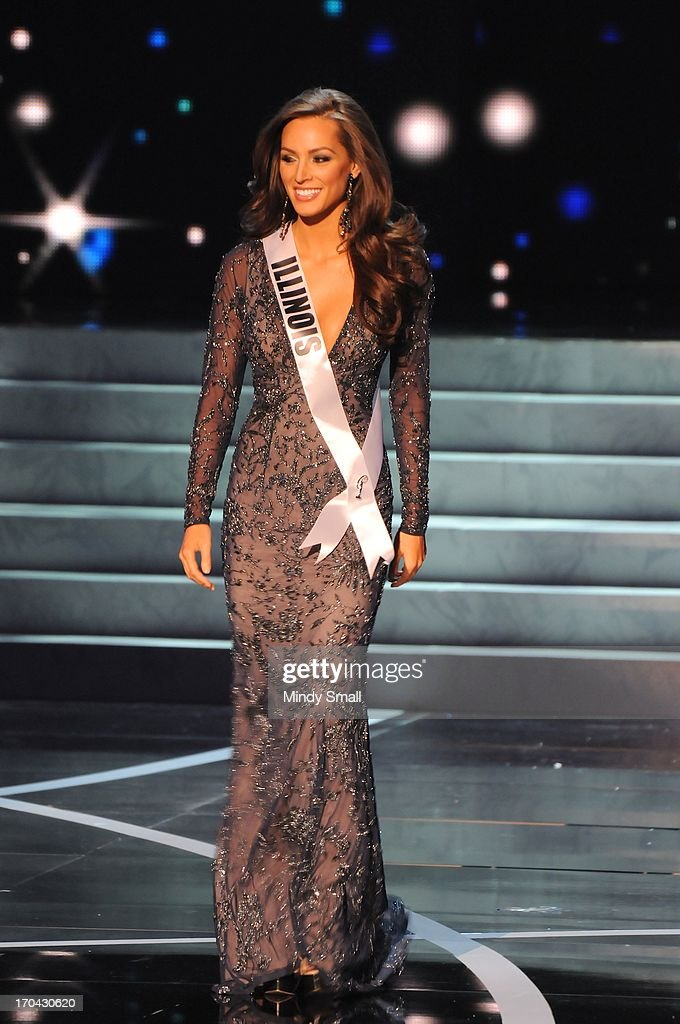 Miss Illinois USA Stacie Juris appears at the 2013 Miss USA
