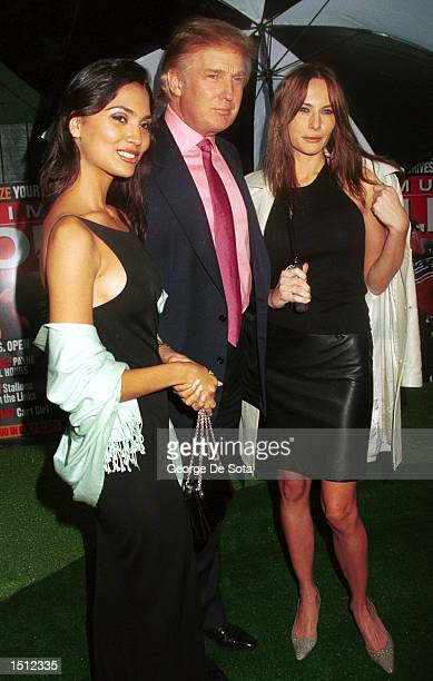 Miss India 2000 Crown Miss Universe 2000 Lara Dutta Real estate mogul Donald Trump with his girl friend Melania Knauss attend the Maximum Golf $ 1...