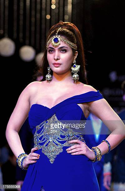 Miss India Ankita Shorey inaugurates the 4th edition of India International Jewellery Week in Mumbai on August 4 2013 AFP PHOTO
