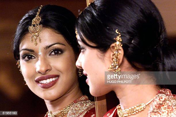 Miss India18 year old Priyanka Chopra poses for the cameras at the official Miss World photocall at the Grosvenor House in London 23 November 2000...