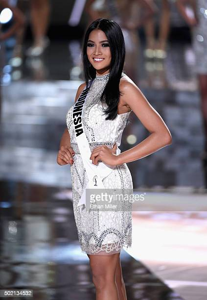 Miss Indonesia 2015 Anindya Kusuma Putri is named a top 15 finalist during the 2015 Miss Universe Pageant at The Axis at Planet Hollywood Resort...