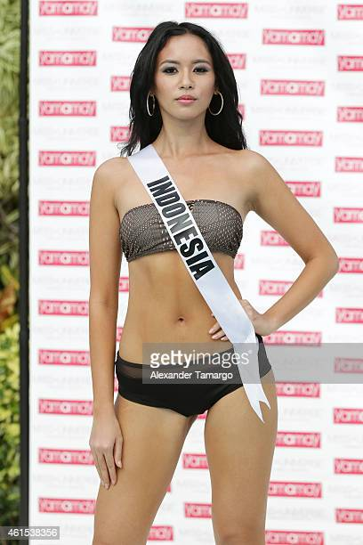 Elvira devinamira pictures and photos getty images miss indonesia elvira devinamira participates in the miss universe yamamay swimsuit runway show at trump national reheart Images