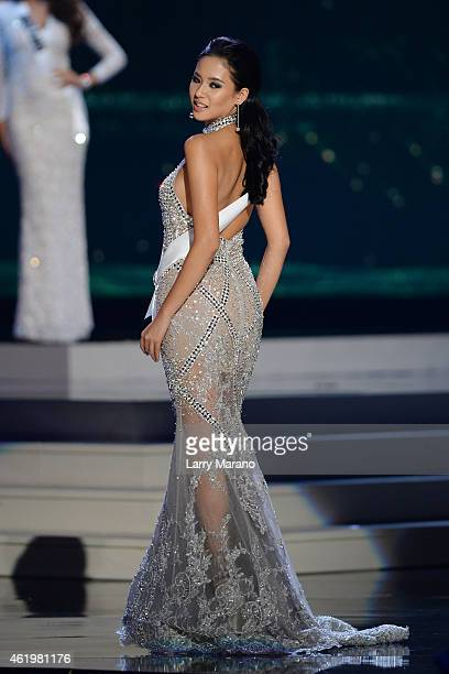 Elvira devinamira pictures and photos getty images miss indonesia elvira devinamira participtaes in the 63rd annual miss universe preliminary show at florida international reheart Images