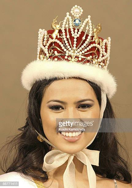 Miss International Beauty Pageant 2005 winner Miss Philippines Precious Lara Quigaman smiles after winning the 2005 Miss International beauty pageant...