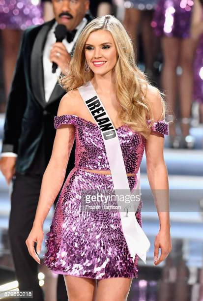 Miss Ireland 2017 Cailin Aine Ni Toibin is named a top 16 finalist during the 2017 Miss Universe Pageant at The Axis at Planet Hollywood Resort...