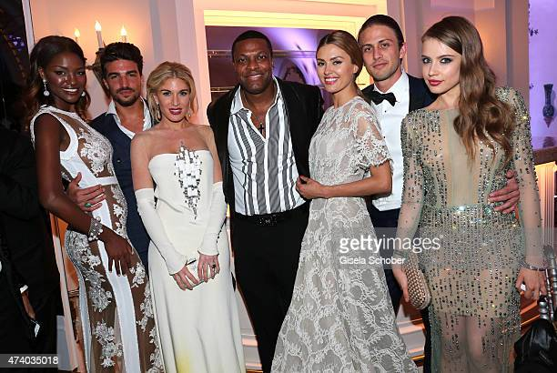 Miss Israel 2013 Yityish Aynaw Mariano Di Vaio Hofit Golan Chris Tucker and Victoria Bonya Alexander Smurfit Xenia Tchoumitcheva attend the De...