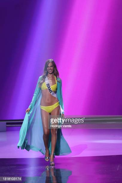Miss Israel Tehlia Lev appears onstage at the Miss Universe 2021 Preliminary Competition at Seminole Hard Rock Hotel & Casino on May 14, 2021 in...