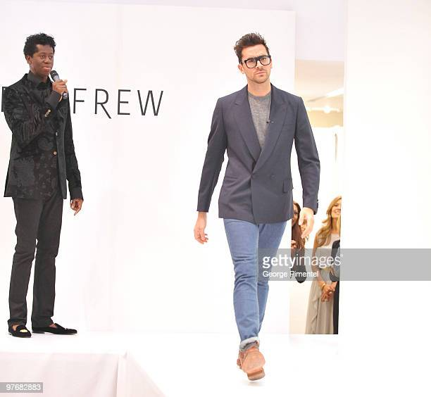 Miss J Alexander and MTV Canada host Dan Levy attend Miss J Alexander's celebrity walkoff event and book signing at Holt Renfrew Bloor Street on...