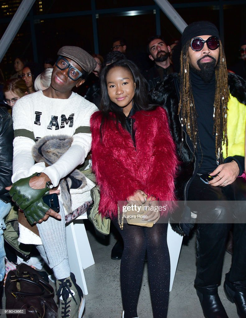 Miss J Alexander and Ty Hunter attend The Blonds Runway show during New York Fashion Week at Spring Studios on February 13, 2018 in New York City.