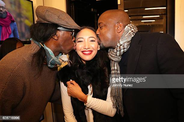 Miss J Alexander Founder and CEO of JJ Gray Jessica Perdomo and Malik Yoba attend the JJ Gray Holiday Trunk Show at Nesh NYC on December 8 2016 in...