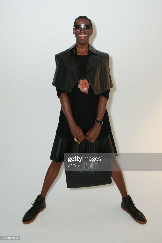 Miss J Alexander poses backstage at the Paxyma S/S 2018 Collection at Pier 59 during New York Fashion Week on September 11, 2017 in New York City.