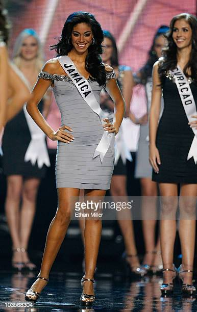 Miss Jamaica 2010 Yendi Phillipps appears after being named one of the 15 finalists during the 2010 Miss Universe Pageant at the Mandalay Bay Events...