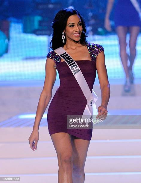 Miss Jamaica 2012 Chantal Zaky is introduced during the 2012 Miss Universe Pageant at PH Live at Planet Hollywood Resort Casino on December 19 2012...