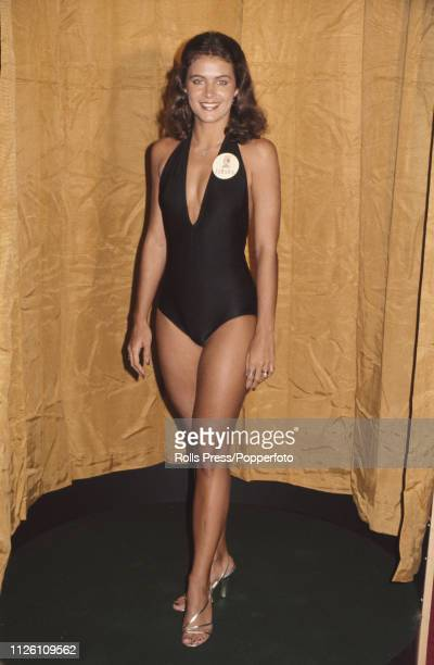 Miss Jamaica Cindy Breakspeare pictured wearing a swimsuit prior to competing in the Miss World 1976 beauty pageant at the Royal Albert Hall in...