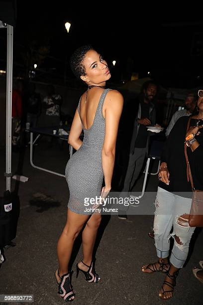 Miss Jamaica Kaci Fennell attends HOT 97's On Da Reggae Soca Tip 2016 at Governors Island on September 2 2016 in New York City