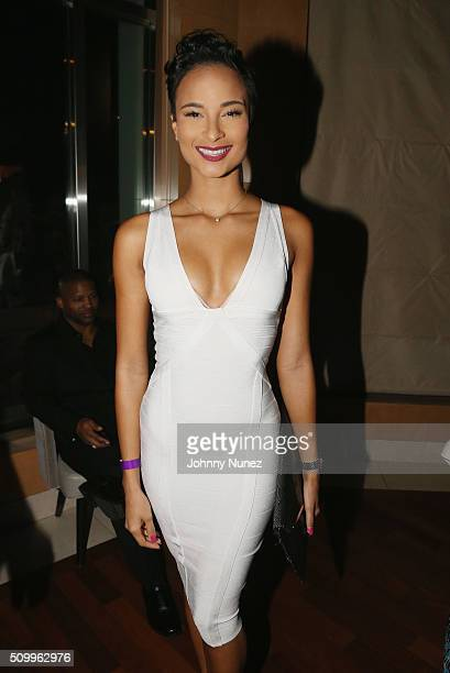 Miss Jamaica Kaci Fennell attends Ted Reid's Annual Pre Grammy Reception at L'Ermitage Beverly Hills Hotel on February 12 2016 in Beverly Hills...