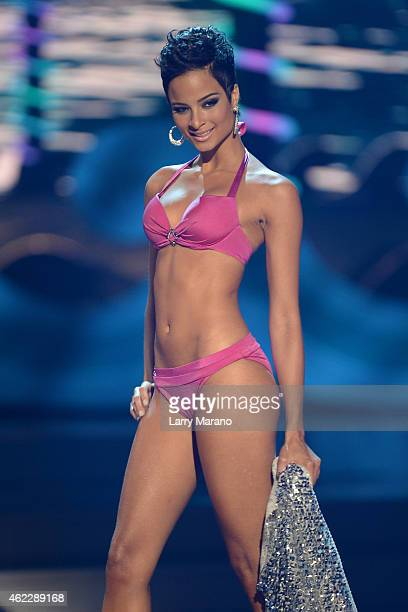 Miss Jamaica Kaci Fennell onstage during The 63rd Annual Miss Universe Pageant at Florida International University on January 25 2015 in Miami Florida