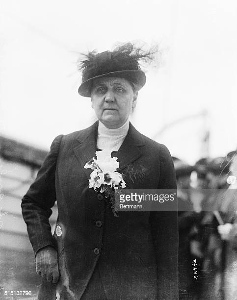 Miss Jane Addams on journey to the International Women's Peace Conference at Hague