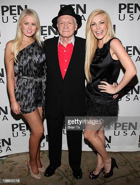 Miss January 2011 Anna Berglund Hugh Hefner and Crystal Harris attend 20th annual Literary Awards Festival at Beverly Hills Hotel on November 17 2010...