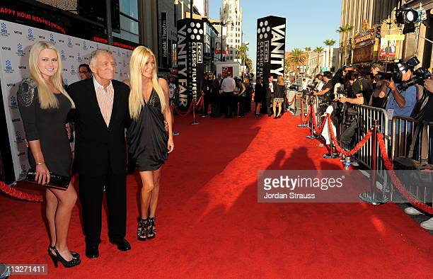 Miss January Anna Sophia Berglund Playboy Magazine founder Hugh Hefner and fiance Crystal Harris arrive at Day 1 of TCM Classic Film Festival 2011 at...