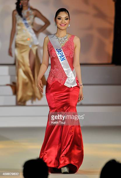Miss Japan Lira Hongo competes during The 54th Miss International Beauty Pageant 2014 at Grand Prince Hotel New Takanawa on November 11 2014 in Tokyo...