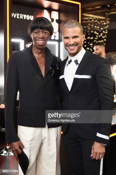 Miss Jay Alexander and Jay Manuel attend the Jay Manuel Beauty x Simon Launch Event at Highline Stages on October 25 2017 in New York City