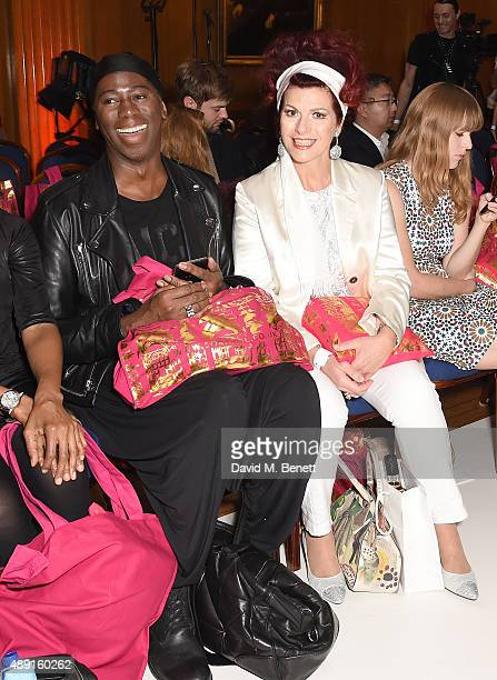 Miss Jay and Cleo Roccas attend the Sorapol Spring/Summer 2016 London Fashion Week Show at The Royal College of Surgeons on September 19 2015 in...