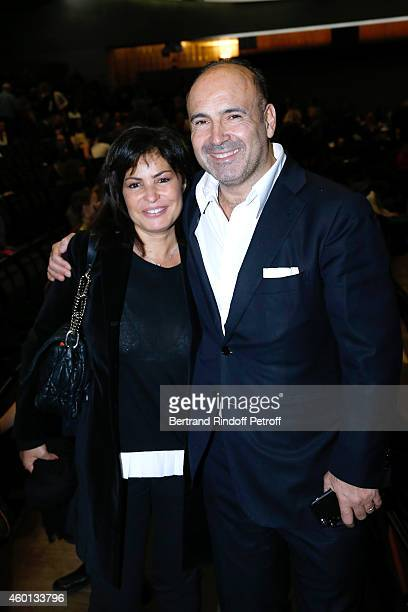 Miss JeanFrancois Cope and Philippe Journo attend the Matinee 'Reve d'enfants' with Ballet 'Casse Noisette' Organized by AROP at Opera Bastille on...