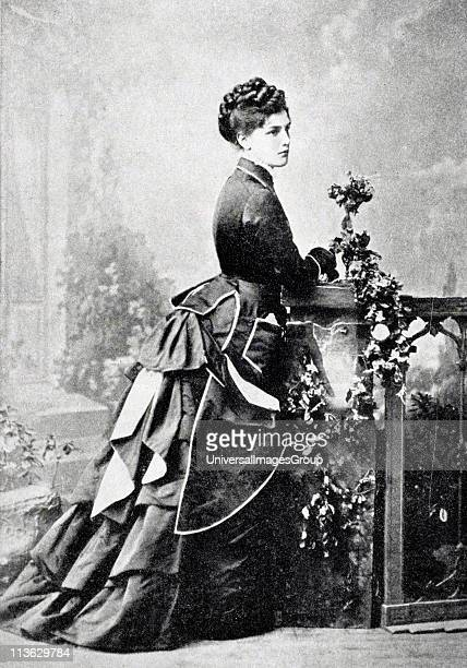 Miss Jenny Jerome aka Lady Randolph Churchill 1854 to 1921 mother of Sir Winston Churchill from A Roving Commission by Winston S Churchill published...