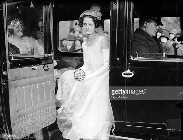 Miss Joan Gatti arriving at Buckingham Palace to be presented to the Queen