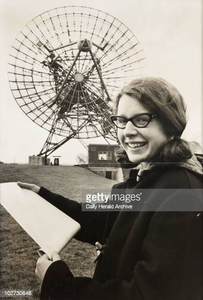 Miss Jocelyn Bell', 1968 A photograph of Jocelyn Bell Burnell at the Mullard Radio Astronomy Observatory at Cambridge University, taken for the Daily...