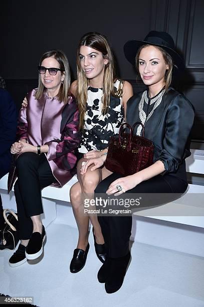 Miss Jonathan Newhouse Bianca Brandolini d'Adda and Camilla Al Fayed attend the Giambattista Valli show as part of the Paris Fashion Week Womenswear...
