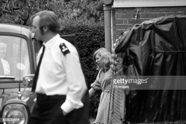 Miss Joyce McKinney makes her way to a police van during the trial in which she and a Mr Keith Joseph are accused of Kidnap Miss McKinney had...