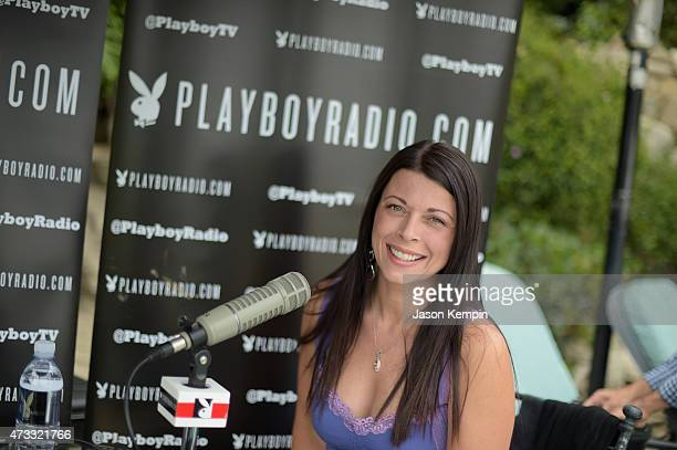 Miss July 1996 Angel Boris attends Playboy's 2015 Playmate of the Year Ceremony at the Playboy Mansion on May 14 2015 in Los Angeles California