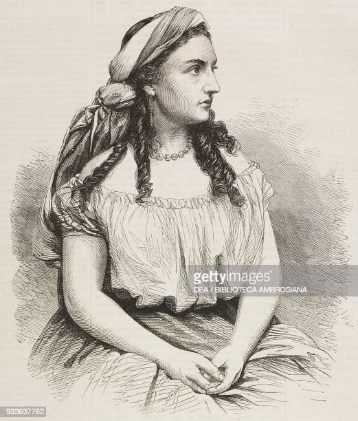 Miss Kate Bateman as Leah from the play by Augustin Daly at the Adelphi Theatre London England United Kingdom illustration from the magazine The...