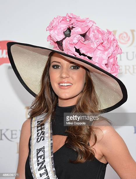 Miss Kentucky United States 2014 Destin Kincer attends 140th Kentucky Derby at Churchill Downs on May 3 2014 in Louisville Kentucky
