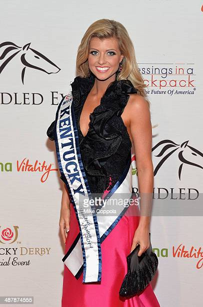 Miss Kentucky United States 2014 Katy Moody attends the 2014 Unbridled Eve Derby Gala during the 140th Kentucky Derby at Galt House Hotel Suites on...