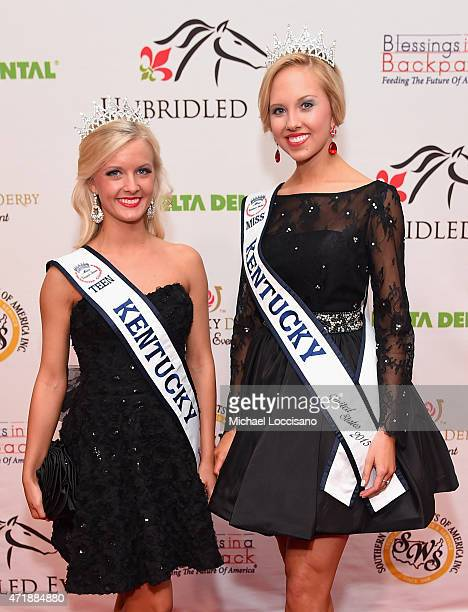 Miss Kentucky United States Katie Himes and Miss Teen Kentucky United States Adrienne Poole attend the 141st Kentucky Derby Unbridled Eve Gala at...