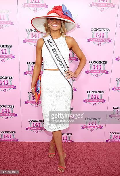 Miss Kentucky USA Katie George attends the 2015 Kentucky Oaks at Churchill Downs on May 1 2015 in Louisville Kentucky
